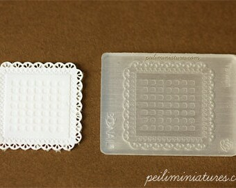 Doily Mold - Square Mold - Silicone Lace Mold