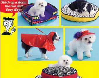 DOG BED Coat Sewing Pattern - Dogs Pets Pet Beds & Coats OOP