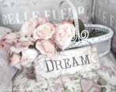 Dreamy Roses Photography, Shabby Chic Decor, Dream Pastel Roses Print, Shabby Chic Roses Art, White Pink Floral Art Print, Dreamy Pink Roses