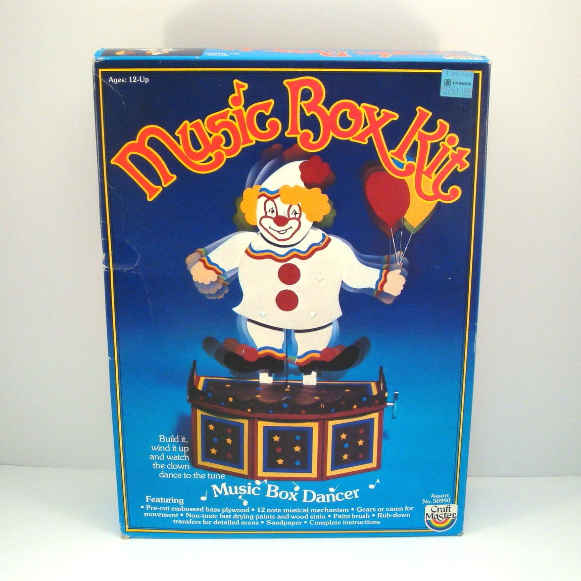 Craft master paint by number kits - Clown Music Box Dancer Vintage 1980s Kit By Craft Master Retro Craft Kit Paint By Number Fundimensions Do It Yourself Diy Kit