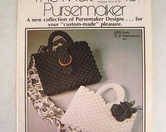 Macrame Patterns Purse Instruction Book - Knotted Purses Pocketbooks