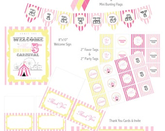 """PRINTABLE (FULL COLLECTION) - """"Old Time"""" Carnival Collection- Vintage Design"""