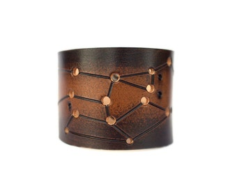 leather cuff Sagittarius constellation star sign