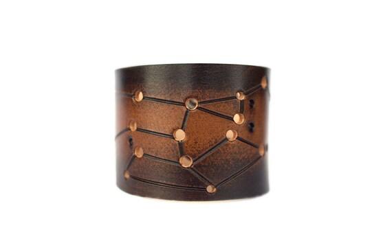 leather cuff Sagittarius constellation star sign