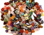 "250 Mixed XS All Natural Mini TUMBLED STONES Size 2 ""Not Dyed"" - Healing Crystals, Medicine Bag, Reiki, Feng Shui, Jewelry & Crafts - BlissCrystals"
