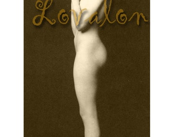 MATURE... 1920's Beauty.... Instant Digital download... Vintage Nude Photo Image by Lovalon