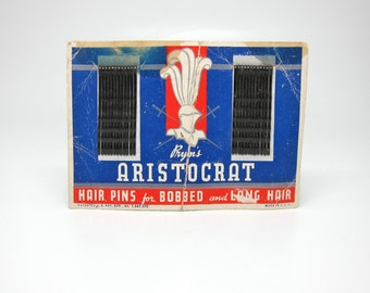 Vintage Bobby Pins Pryms Aristocrat Hair Pins 1940s 1930s
