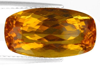 Dazzling 8.80 carat Faceted Citrine for Setting, Jewelry Making, Loose Gemstone, Collectible, SALE