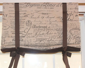 """French script roman with ribbon ties 48""""wide"""
