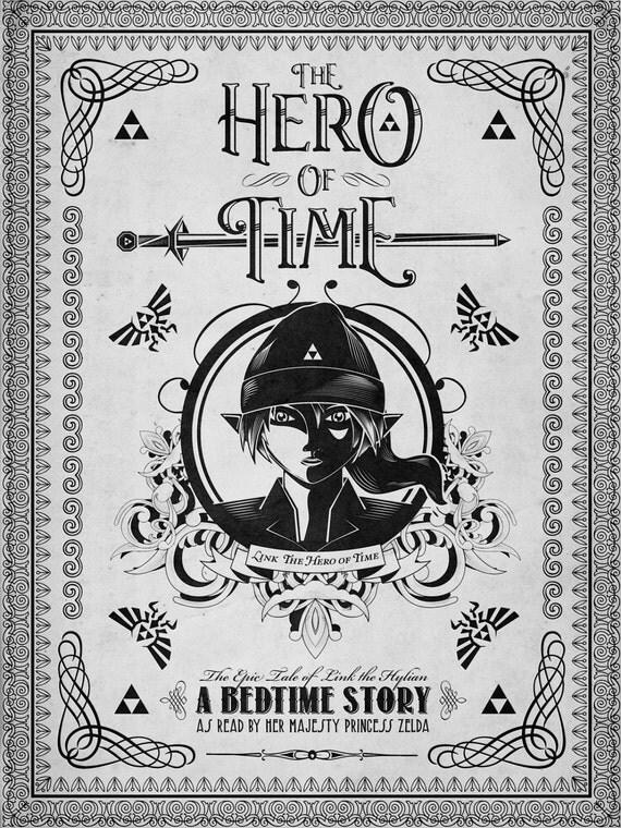 Legend of Zelda - Link the Hero of Time Line Art - signed museum quality giclée fine art print
