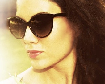 Vintage Cat Eye Sunglasses, Black Cateyes, Cat Eye Glasses, Twin Peaks Laura Palmer, Deadstock Womens Sunglasses