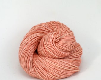 Vega - Hand Dyed Alpaca Merino Wool Silk Worsted Yarn - Colorway: Blush