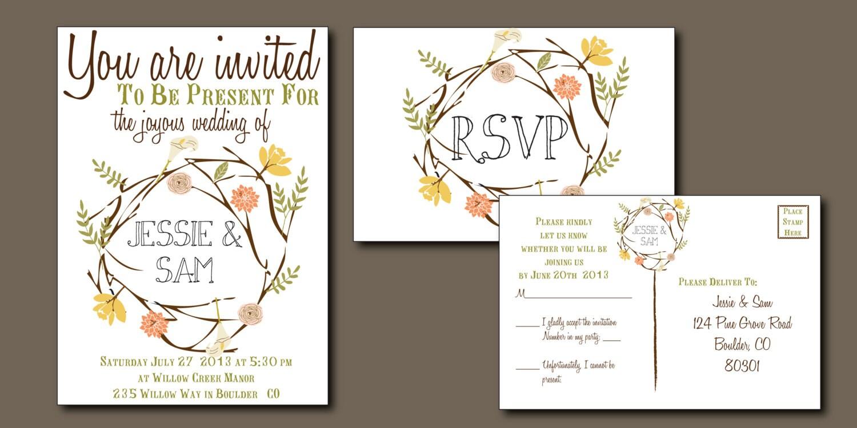 Summer Wedding Invitations: Items Similar To Bohemian Wedding Invitation: Bohemian