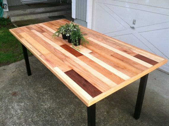 Items Similar To Modern Custom Dining Table Reclaimed Wood And Steel On Etsy