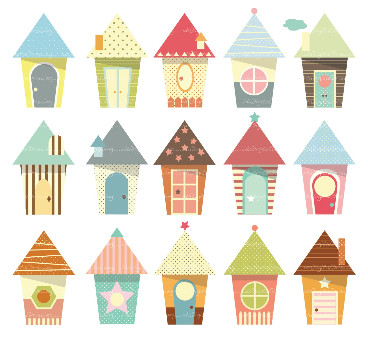 Baby Houses Clip Art High Resolution