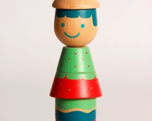 Stacking toy, Medium Stacking Doll (SUMSUM), Skills Developer, Wood Toy, Colorful Wooden Beads