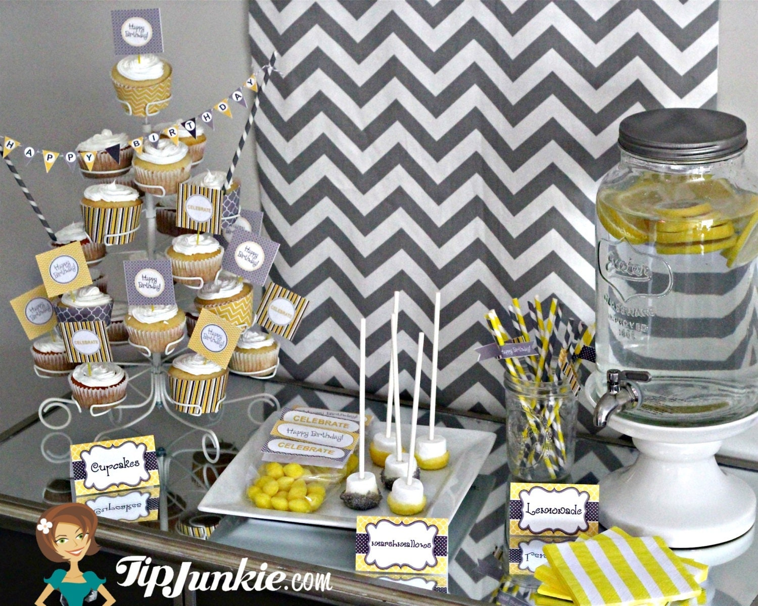 Birthday party 20th 25th 30th 40th 50th 60th by tipjunkie for 25th birthday decoration ideas