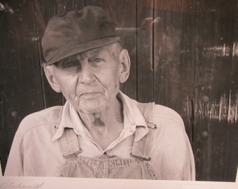The Blacksmith Signed Photographic Portrait  - 16 x 20 Framed  Black and White Art