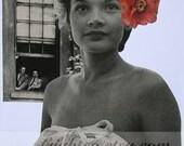 Original Art Collage, Paper Collage, OOaK Paper Art, Collage on Paper, Retro Art, Beautiful Woman