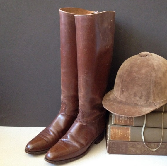 Antique England // Early 1900s Mansfield & Sons Equestrian Riding Boots