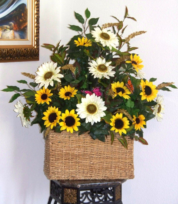 Sunflower Birthday Arrangements : Sunflower centerpieces floral arrangements