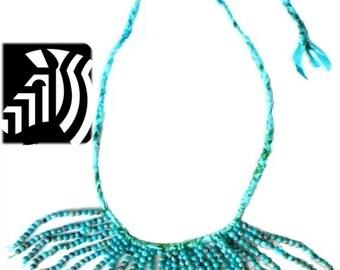 Tasselnecklace, giftforher, rokcandy,turquoisenecklace, fringenecklace, nativeamerican,layeringnecklace, rokafricanecklace, statementjewelry