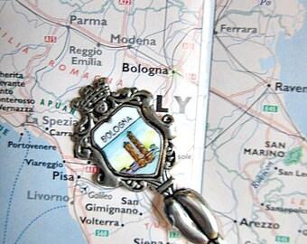 Silver Souvenir Spoon from Italy, Bologna.  ID 063