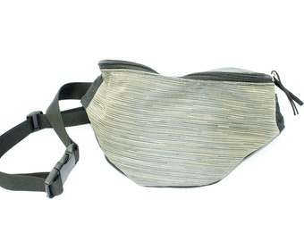 Shadow Silver Grey Upholstery fabric Fanny Pack - Hip Bag