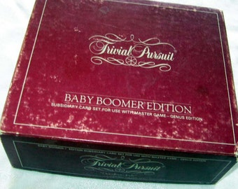 Trivial Pursuit Baby Boomers Edition Subsidiary Card Set For Use With Master Game 1983