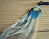 Feather Hair Extension Clip - Macaw, Parrot and Emu- Australian made - Ethically Made & Collected