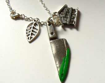 Cabin in the Woods horror-themed charm necklace