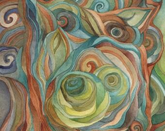 Sherwood original watercolor by megan noel
