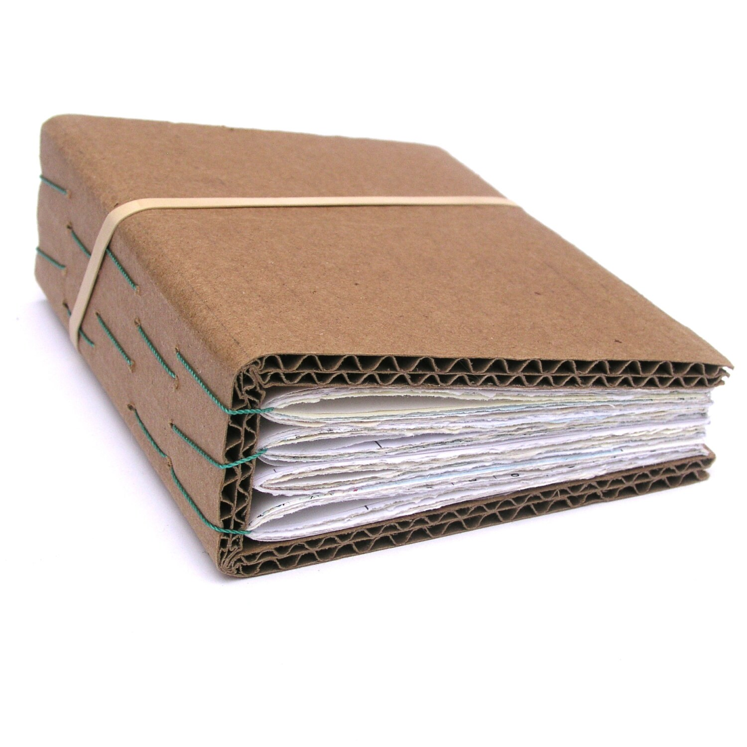 How To Make A Book Cover Out Of Cardboard : Cardboard handbound recycled ephemera paper book