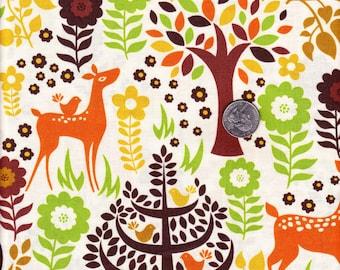 Fat quarter - Woodstock Cream Forest - Timeless Treasures  cotton quilt fabric