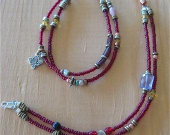 Children's Jewelry Beaded Anklets Treasures Pair