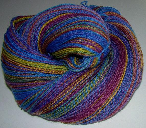 Paintbox - Handspun Corriedale Wool Fingering/Laceweight Yarn   675yards