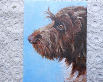 Custom Pet Portrait Custom Wire-haired Pointing Griffon Dog Portrait Painting