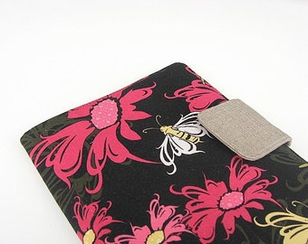 Kindle Fire Cover Nook Simple Touch Cover iPad Mini Cover Kobo Cover Case Insects Bees Dragonfly Floral eReader