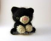 Bitty Kitty Crochet Plush Toy Small Black