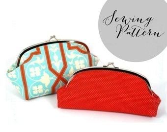 "INSTANT DOWNLOAD - Kisslock Clutch PDF Pattern - Large 7"" size"