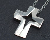 Star of Bethlehem Cross - Necklace - Pendant Sterling Silver - Free US Shipping