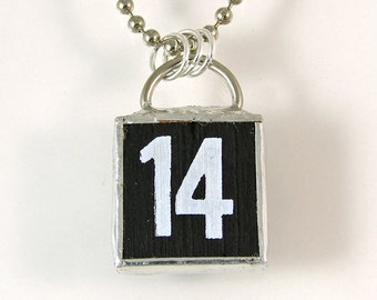 Number 14 Pendant Necklace