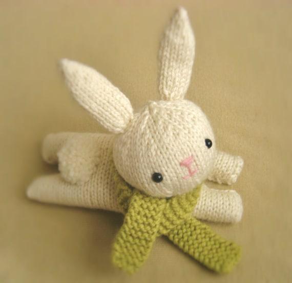 Etsy Amigurumi Bunny : Amigurumi Knit Bunny Pattern Digital Download