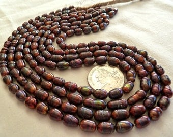 2 strands Baroque Pearls Bronze copper good luster pearl full strand fresh water rainbow