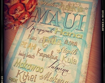 NEW Oversized POSTCARD gorgeous Maui places On 5.5 x 8.5 glossy premium cardstock