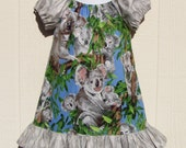 Koalas in the Wild Peasant Dress Size 24 Months