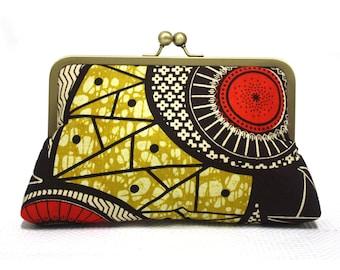 African print clutch purse, Print Handbag, Ankara Bag, Urbanknit Clutch, Girlfriend gift, Clutch bag, Funky bag