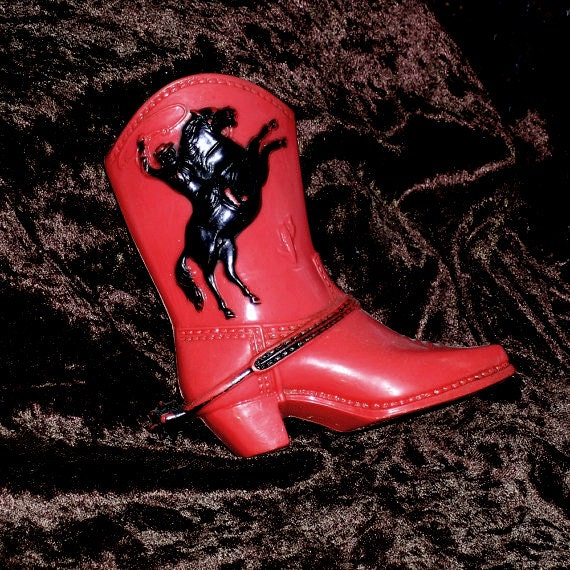 1950s Plastic Cowboy Boot Bank