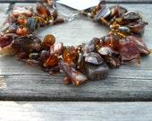 keshi pearl and shell mermaid fringe bracelet