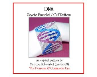 Peyote Bracelet Pattern ... DNA (Double Helix) ... Science . Biology . Geekery . Genetics . Spiral . Modern . Wide . Stylish . 3 for 2